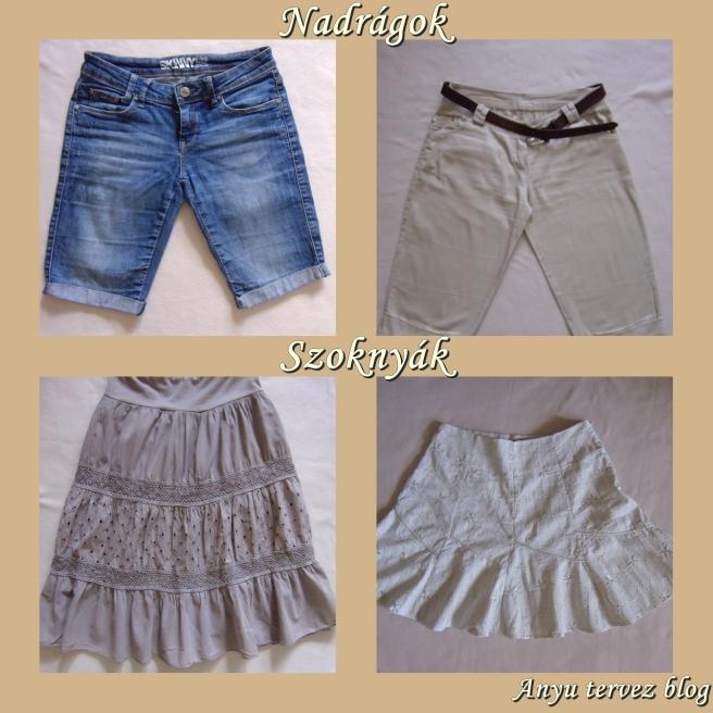 nadrágok és szoknyák